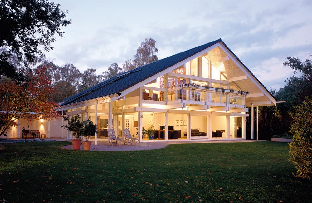 la casa in legno di lusso